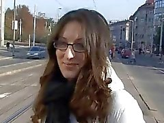 Czech amateur Monika gets picked up from the stree