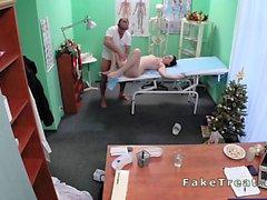 Beautiful European patient fucked