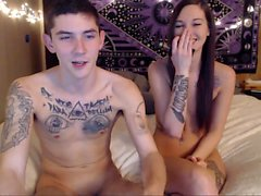 Sexy Amateur Teen couple fuck on Webcam