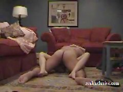 Cheating brunette amateur wife Rebecca gets caught on the spycam hubby set up