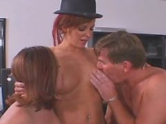 Older man creates his fetish with two willing women