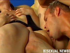 Biz ilk bisexual bir üçlü inanılmaz yapacak