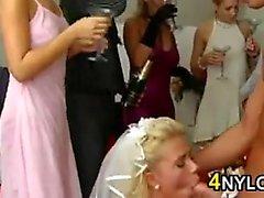 Hochzeitsfeier Having A wilden und verrückten Orgasmus