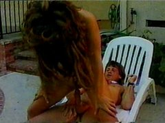 Classic perm chick fucked at swimming pool
