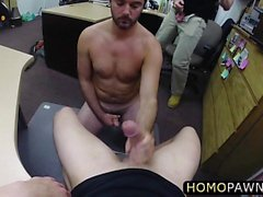 Pervert dudes fucked hairy ass guy