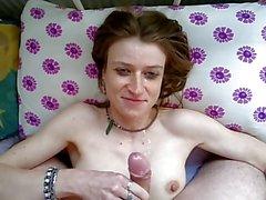 meine (Ex-)Kleine - ins Gesicht - Handjob - Sperma