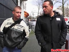 Amsterdam hooker strips n rides tourist cock