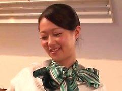 Asiatiska teen slampa i POV avsugning