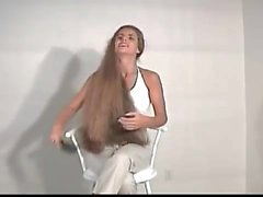 Hannah Super Long Hair Brushing