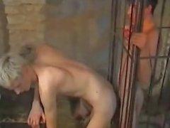 Caged Teen Boy Fun