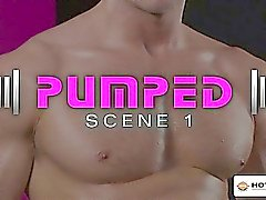 Chiseled Liam makes a pig of himself on Angel's uncut cock