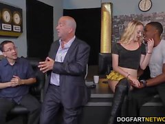Iris Rose gets creampied by BBC in front of dad