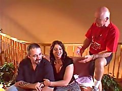 Handsome Nick Manning with BBW & cuckold husband
