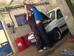 Delicious Katrin bangs her hung mechanic