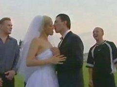 Russisch Hochzeits , Braut bumst mit allen männlichen freundliche