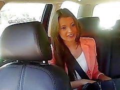 Hot Russian passenger banged in the cab
