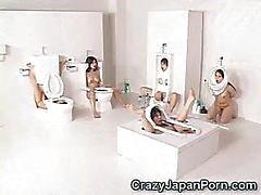Human Toilet Girls Facialed!