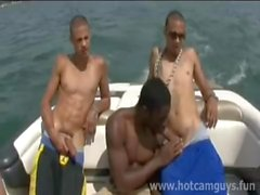 Black Guy Gets Fucked on a Boat