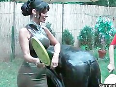 Dirty Carmen in hard core bdsm bdsm part4