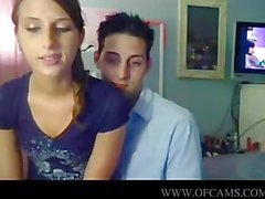 Lovers fuck in front of cam rammed puss