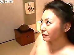 Nice Japanese Mature Lady Blows