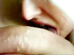 Big tit blonde sucks dick