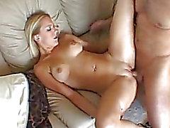 Blond hottie Erin Moore acquires her face cum blown after a wet crack cramming