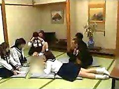 Japanse studenten groepsseks