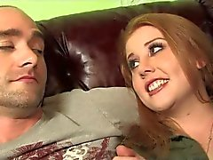 Redhead Cherry Cuckolds Him With 3 BBCs