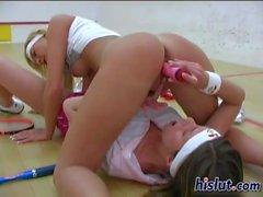 Olivia takes off her panties