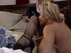 Lexi Belle let a guy in uniform lick her clit
