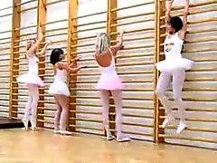 Bailarina Sexo em grupo