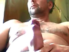 Horny argentinian daddy loves to stroke