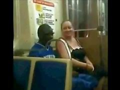 BBW Slut Suck Black Cock On The Train