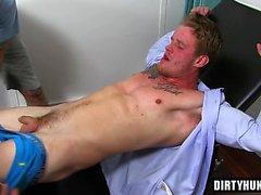Muskel Homosexueller Fuß und Cumshot
