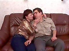 Graisse amie russe tape son épouse du BBW la mère