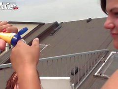 FUN MOVIES Busty Amateur Lesbians on rooftop