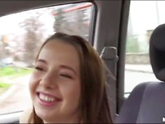 Cute teen babe fucking with stranger guy