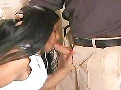 Indian secretary seduces her white boss