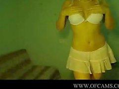 Blonde Teen Cutie Dildo In Her Booty ec