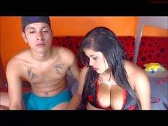 Hot webcam Latino couple