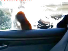 Hot Blonde Washes Car Naked On Webcam 2