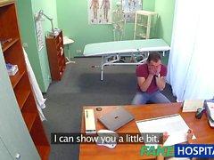 FakeHospital Blonde le port Moulante hot infirmière outfit
