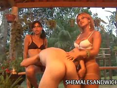 Yris Schimit and Carla Renata Tranny Domination