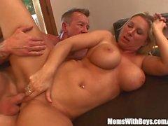 Busty Blonde Housewife Devon Lee Pierced Pussy Fucked