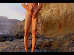 Dasilva99 rocky beach masturbation on sunny holiday