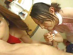De deux infirmières japonaise slurp fellation et de sperme extraction