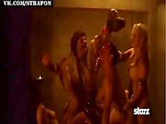 Strap-on sex in mainstream Spartacus series
