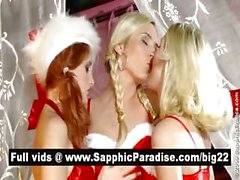 Lovely blonde an redhead lesbos licking and fingering pussy in a three way lesbo orgy