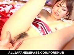 Kaori Natsuno in traditional dress licks balls and is screwed